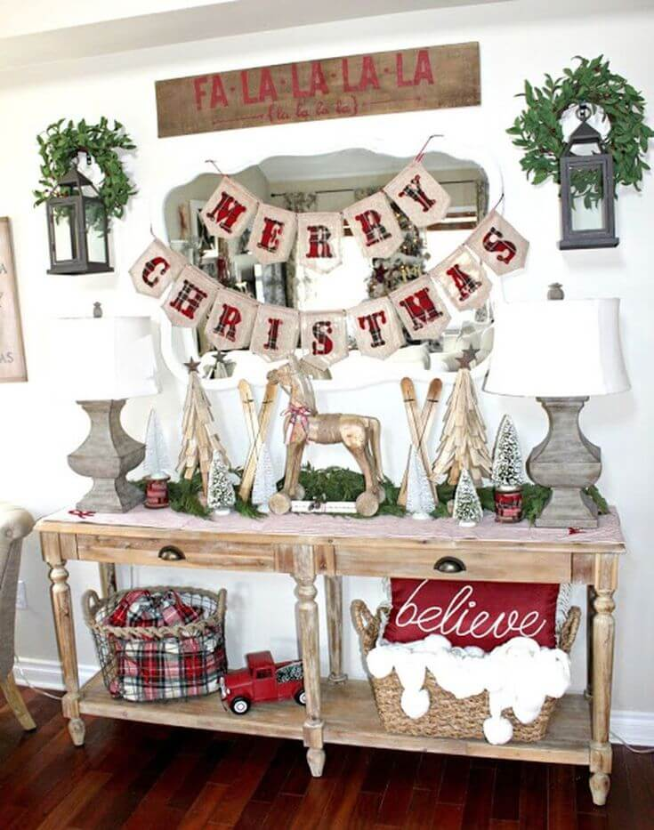 Farmhouse Style Christmas Display