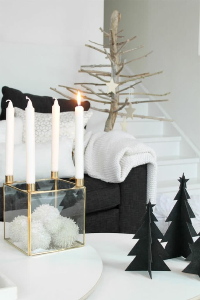 DIY Christmas table decor