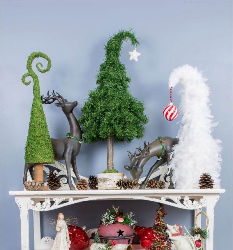 Quirky Christmas Table Tree Decor