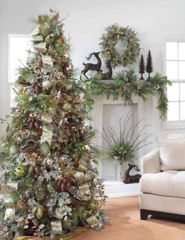 Fancy Rustic Christmas Tree Decor