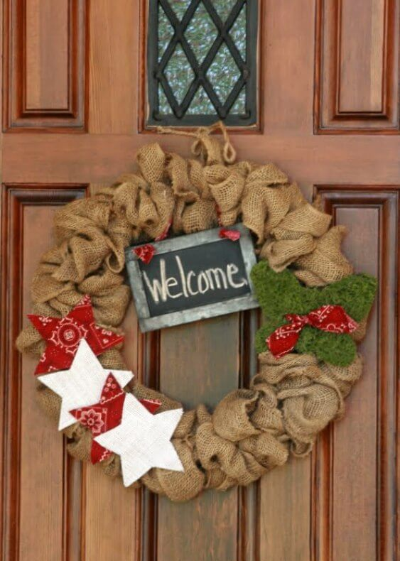 DIY Rustic Burlap Wreath Decor