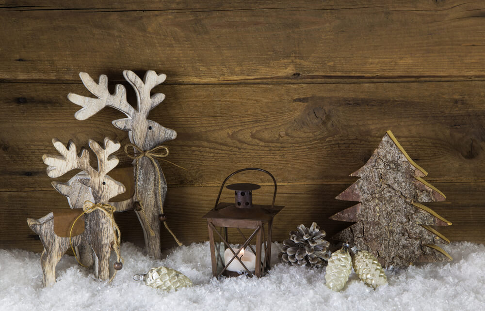 Woodland Rustic Christmas Table Decor