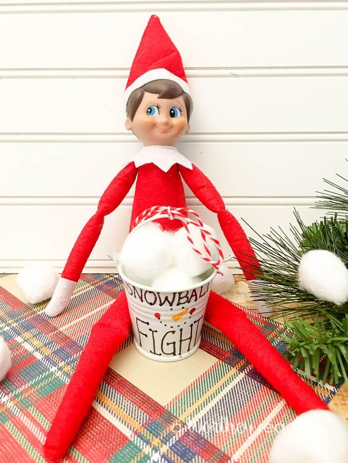Snowball Fight With Elf Display