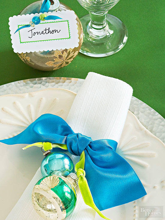 Ornament napkin rings and poster cards