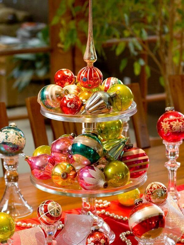Colorful Ornaments Cake Stand Display