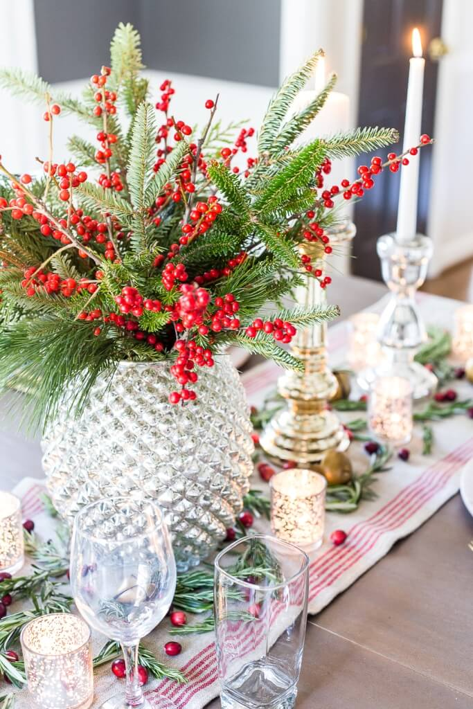 Vintage Glam Cranberry Tablescape