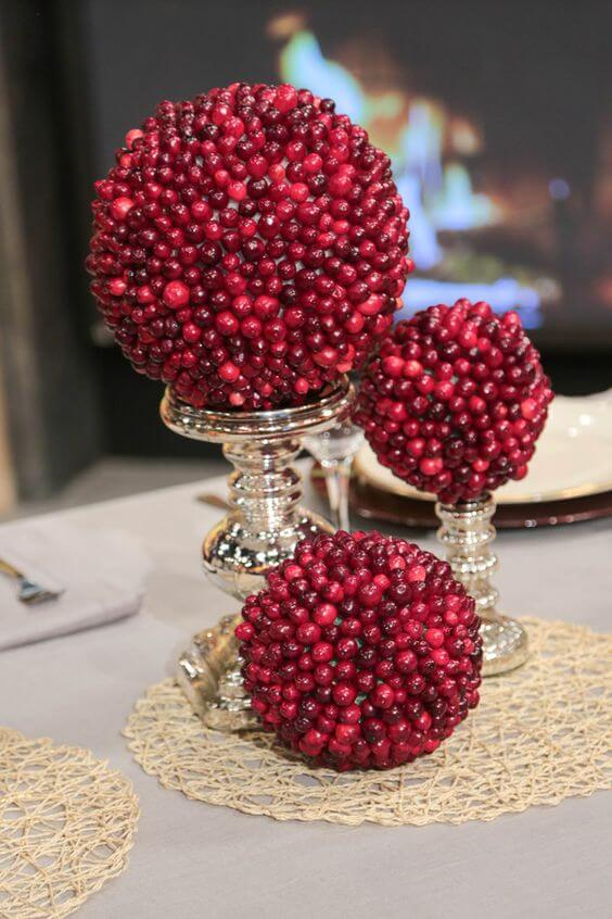 Cranberry Topiaries Christmas decoration