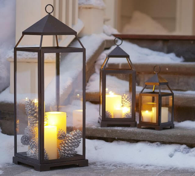 Front Porch Candle Lanterns Decor