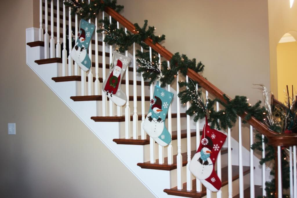 Christmas Santa Socks Garland Decor