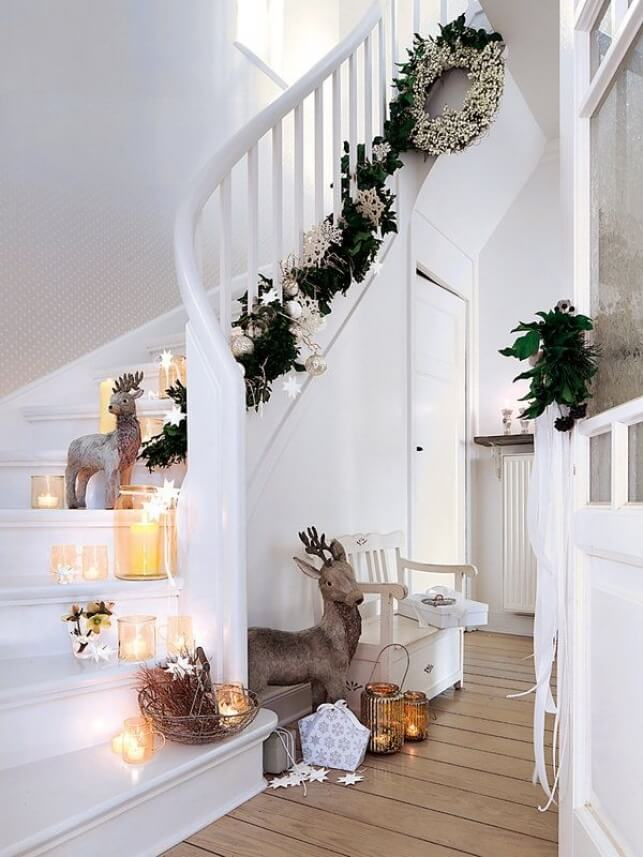 Winter Wonderland Christmas Staircase Decor