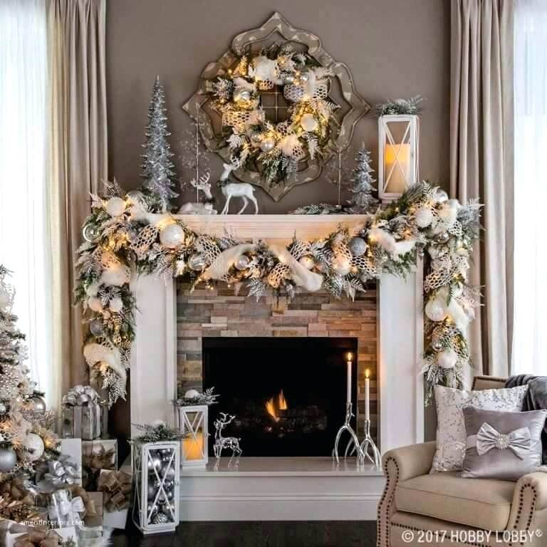 Fancy Fireplace Cloak Christmas Decor