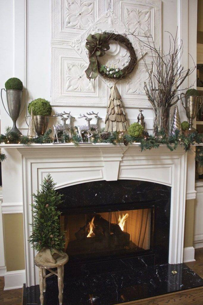 Woodland Natural Fireplace Mantel Decor