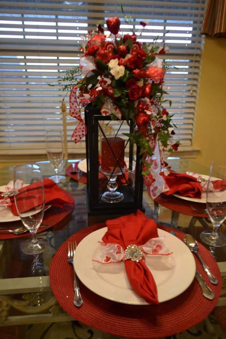 Victorian style Christmas centerpieces