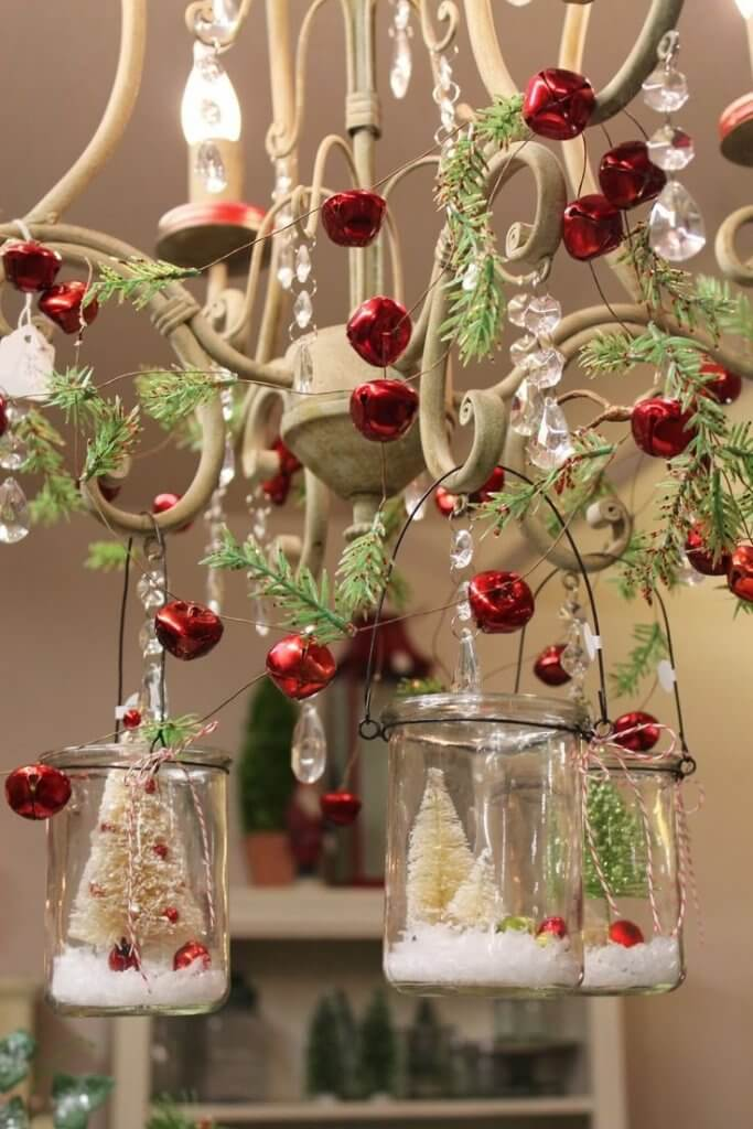 Christmas bells chandelier decoration