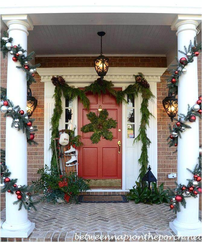 Front Porch Christmas Garland Decoration