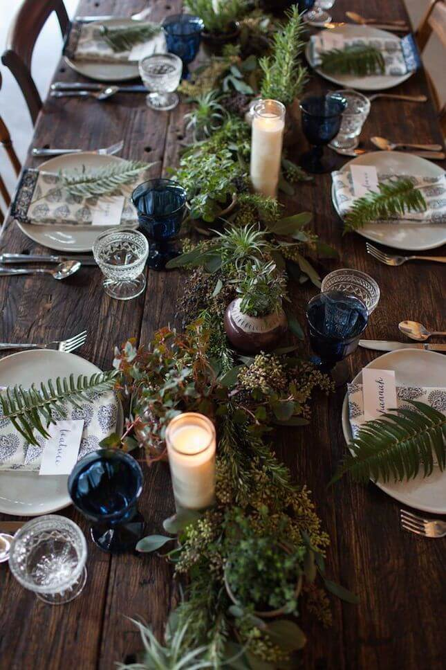Earthy Rustic Decor Christmas Table