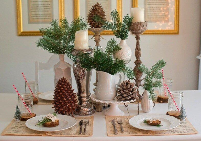 Rustic elegant table settings