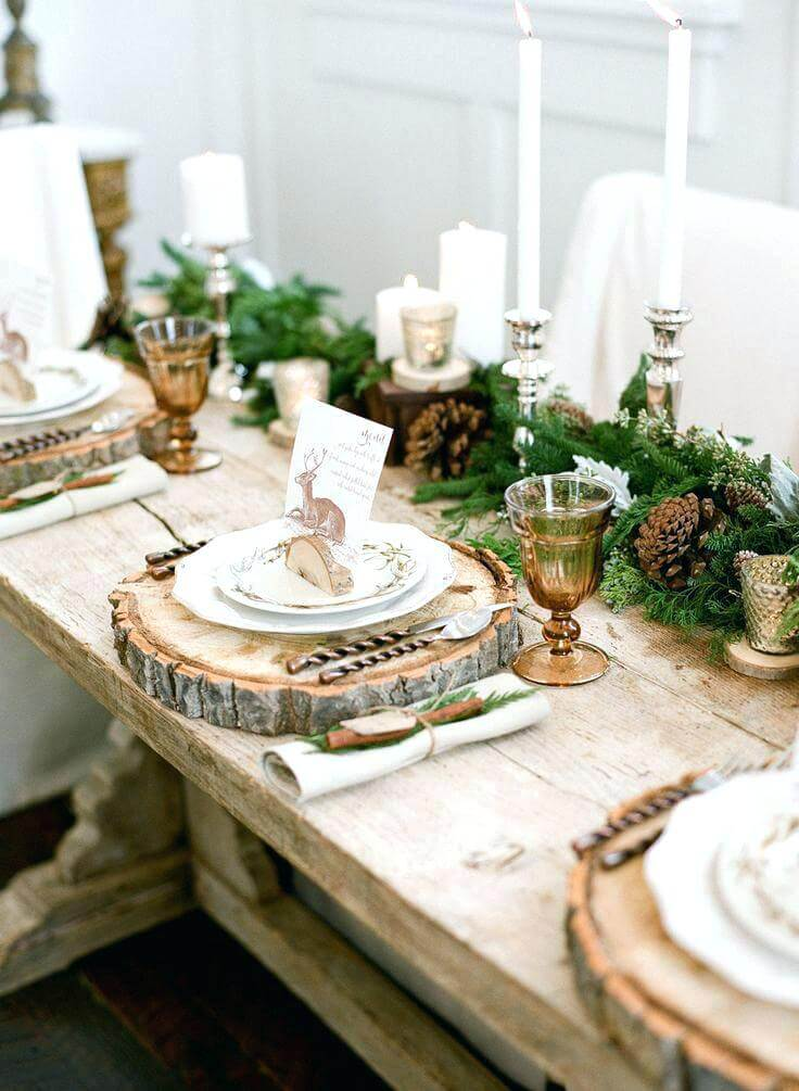 Creative Natural Elements Christmas Table