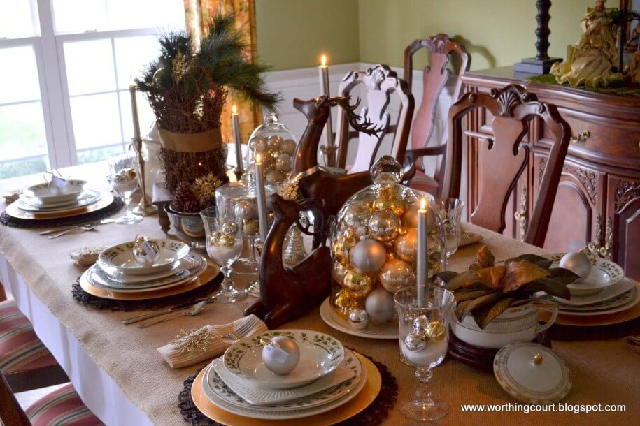 Fancy Rustic Christmas table