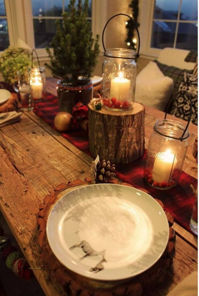 Beautiful DIY Rustic Christmas table