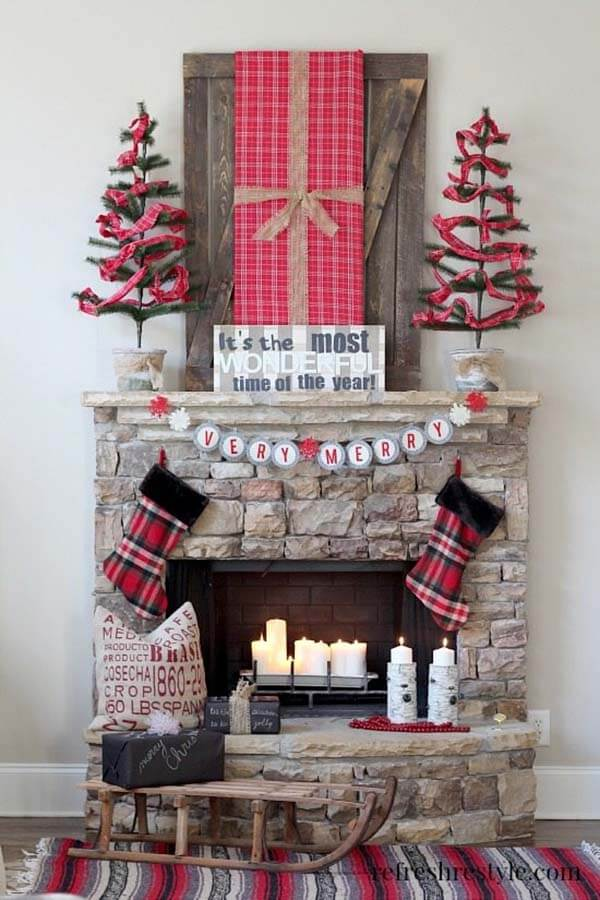 Country Style Christmas Fireplace Coat