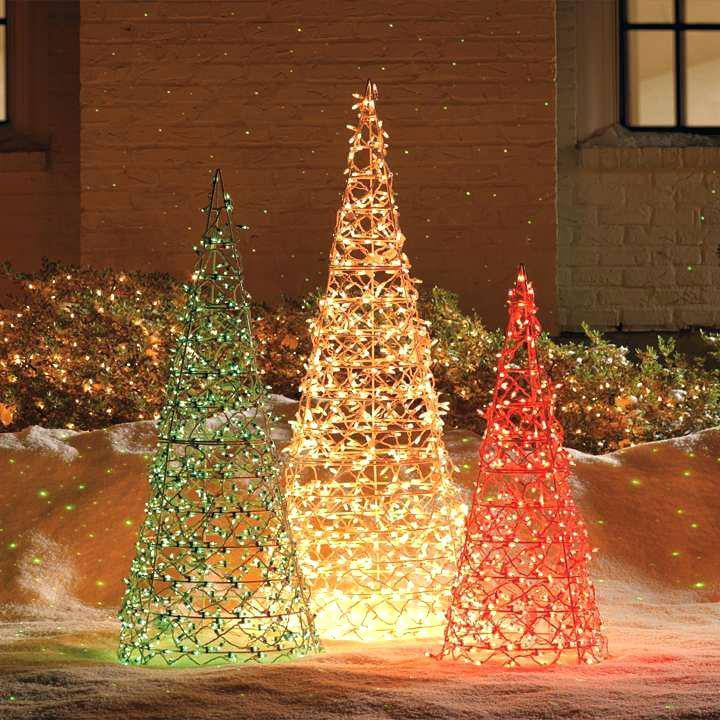 Outdoor light gold Christmas decor