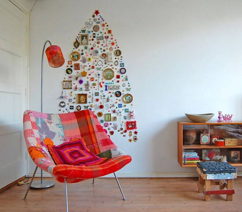Abstract Space Saver Wall Tree