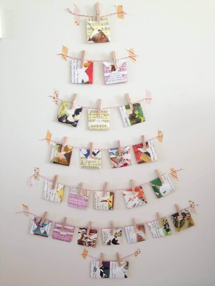 Christmas Card Creative Wall Tree