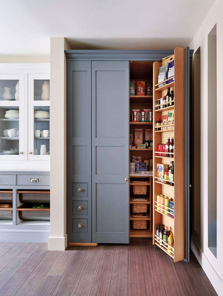 Standing alone kitchen pantry