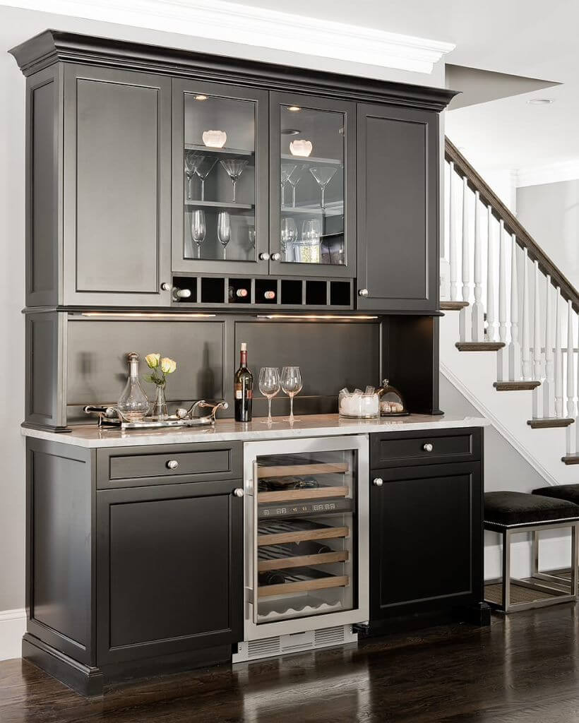 Custom built Dark Home Bar