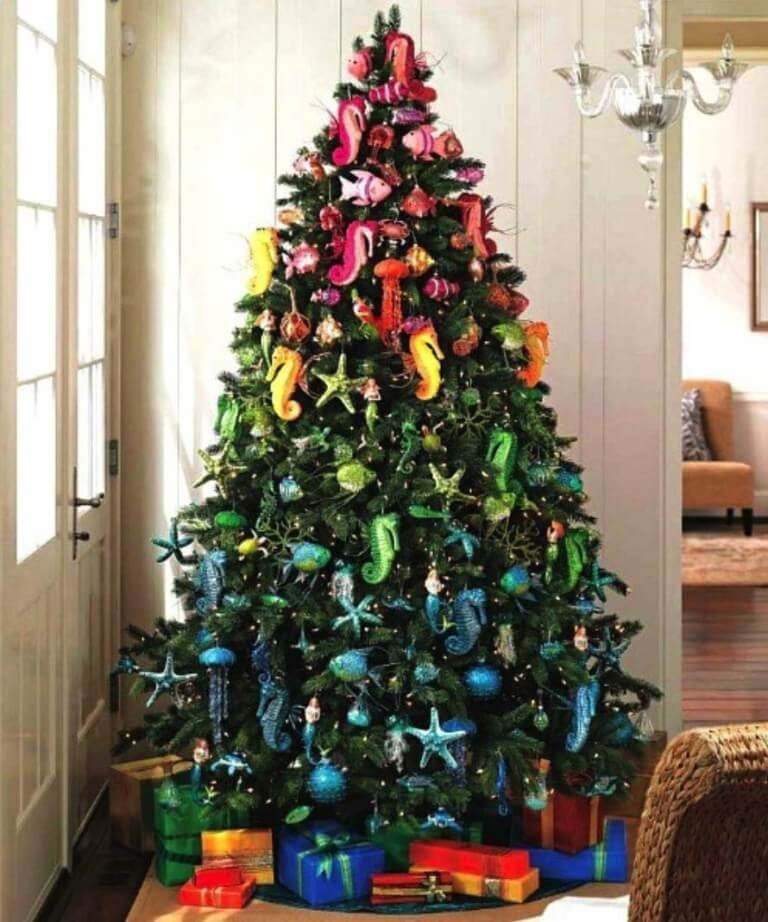 Tropical Colors Coastal Christmas Tree