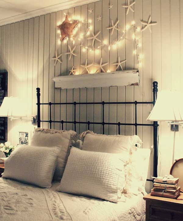 DIY coastal bedroom decorations