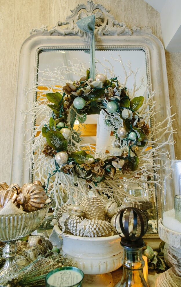 Beach style Christmas wreath decoration