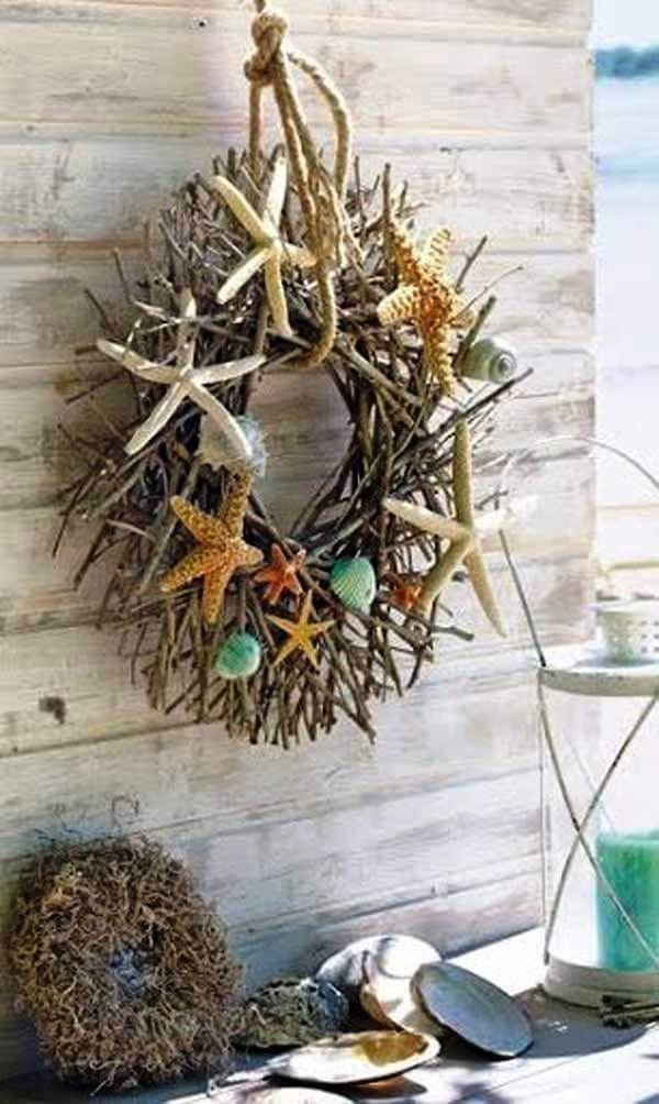 Backyard Coastal Christmas Wreath Decor