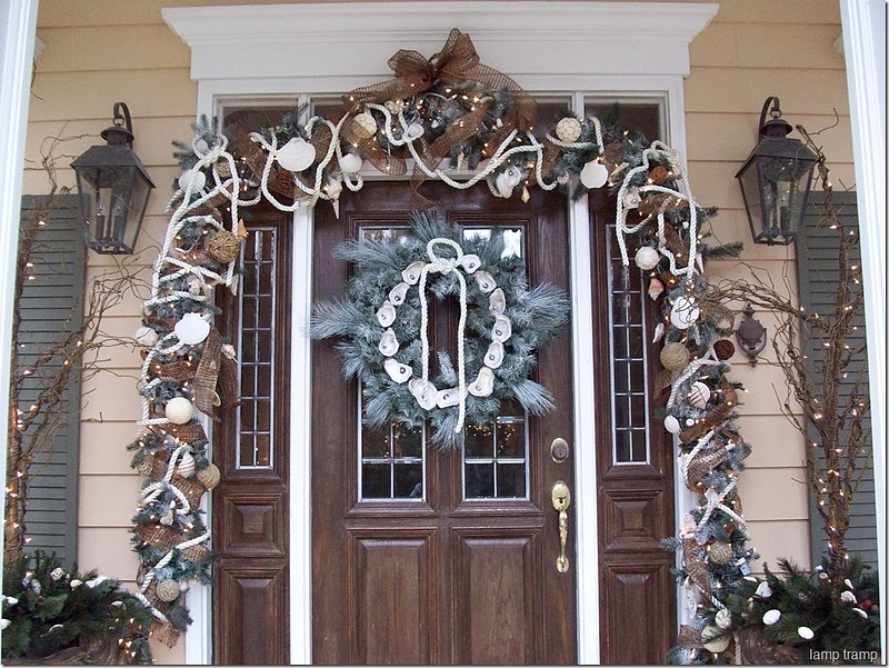 Front Door Nautical Christmas Decor