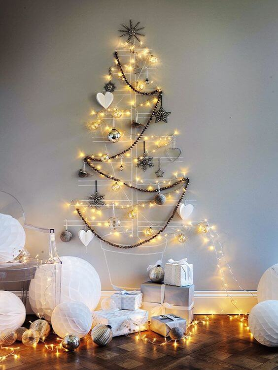 Modern alternative Christmas tree decor