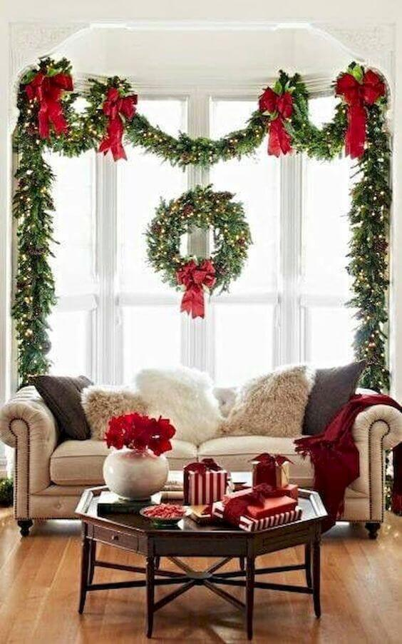 Window Wreath Garlands Decor