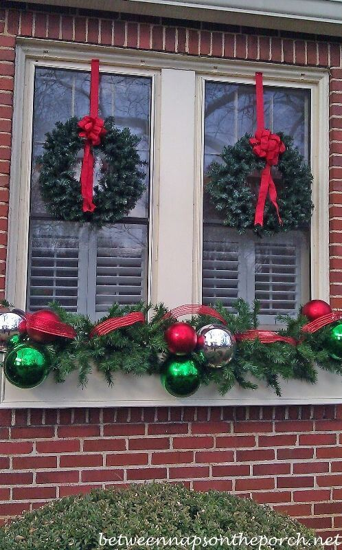 Outdoor Windowbox Christmas Decoration