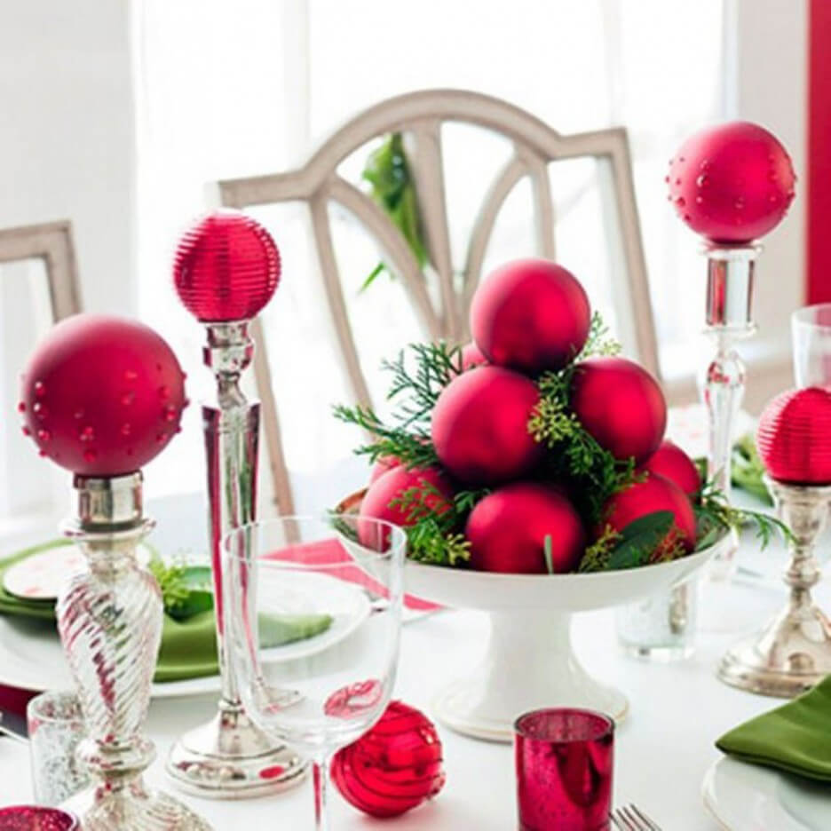 Pink Glitter Dining Table Decor