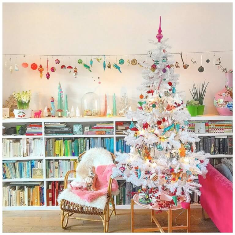 Retro pastel Christmas decor