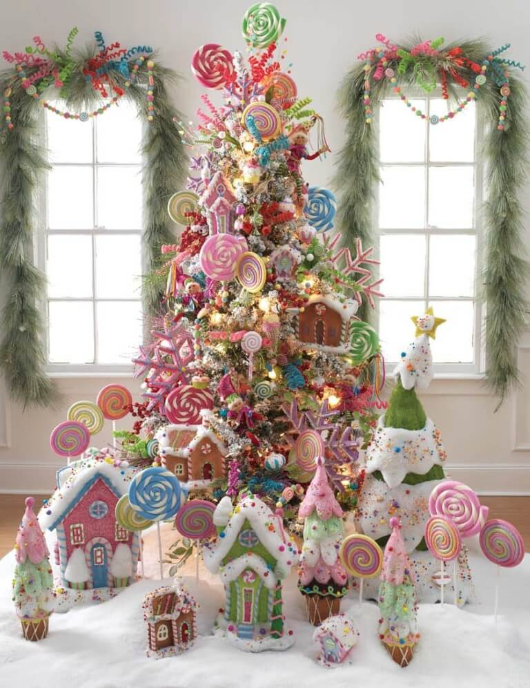 Vivid Candy Land Tree Decorations