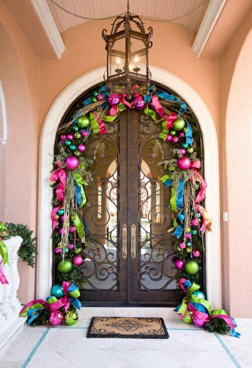 Front Door Festive Christmas Decor