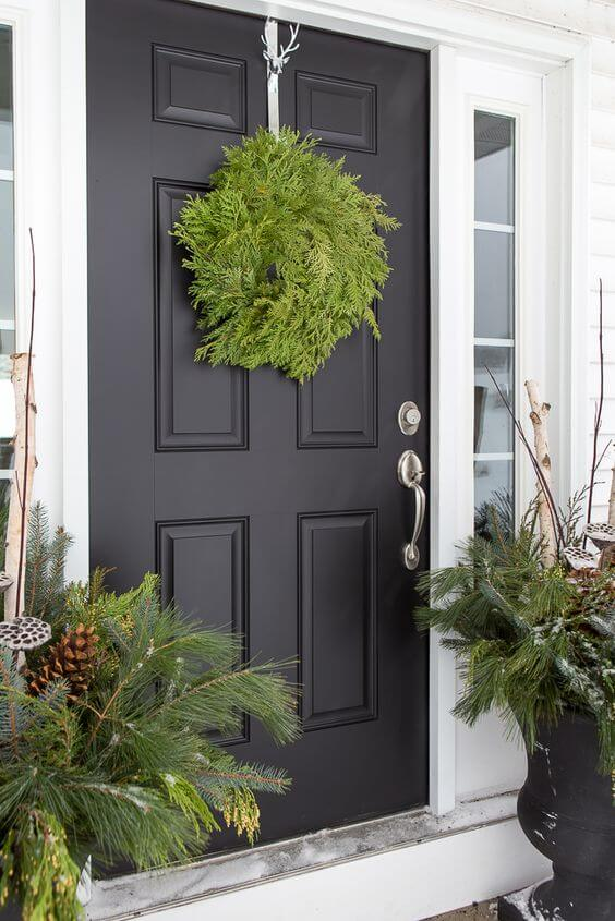 Basic Front Door Christmas Decor
