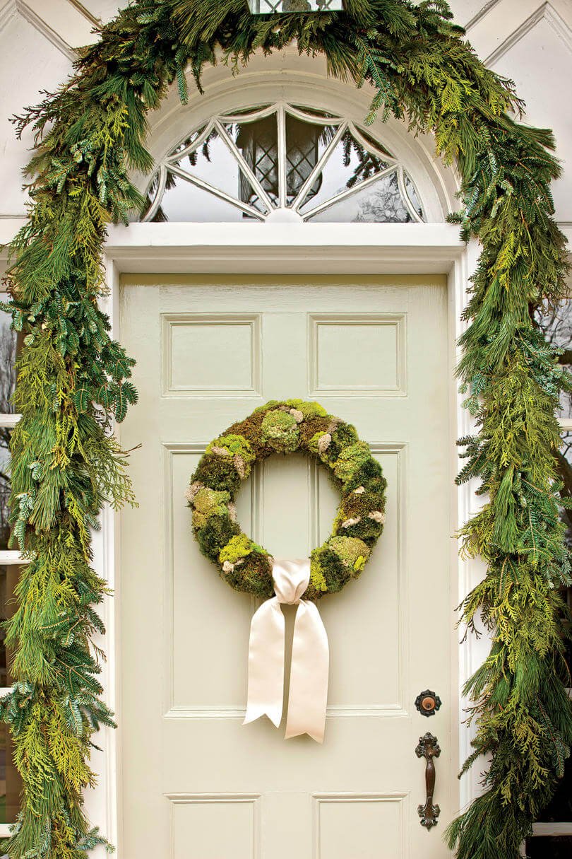 Christmas wreaths with succulents