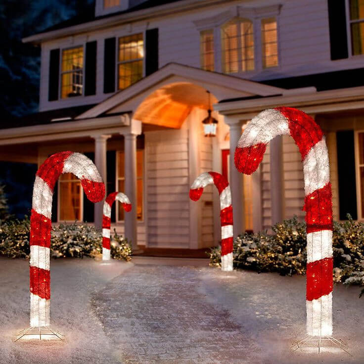 Giant Candy Cane Front Yard Decor