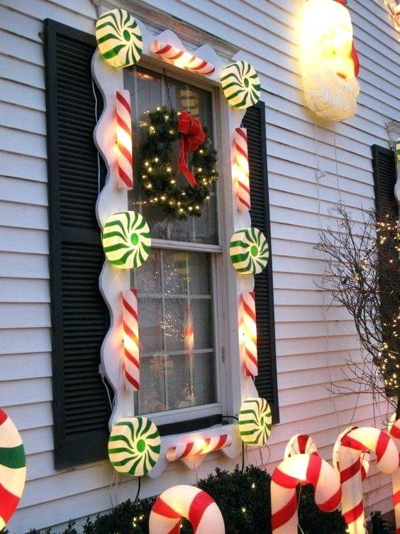 Outdoor Window for candy lighting