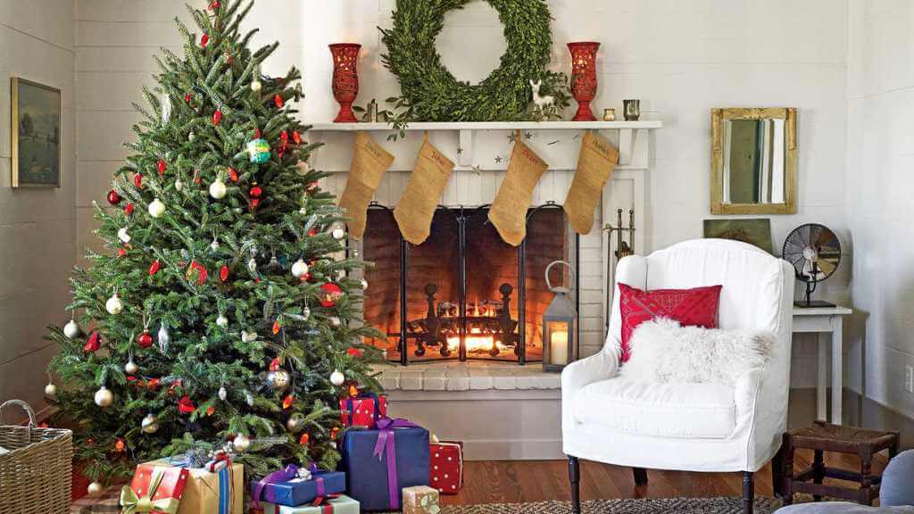 Fantastic country living room tree
