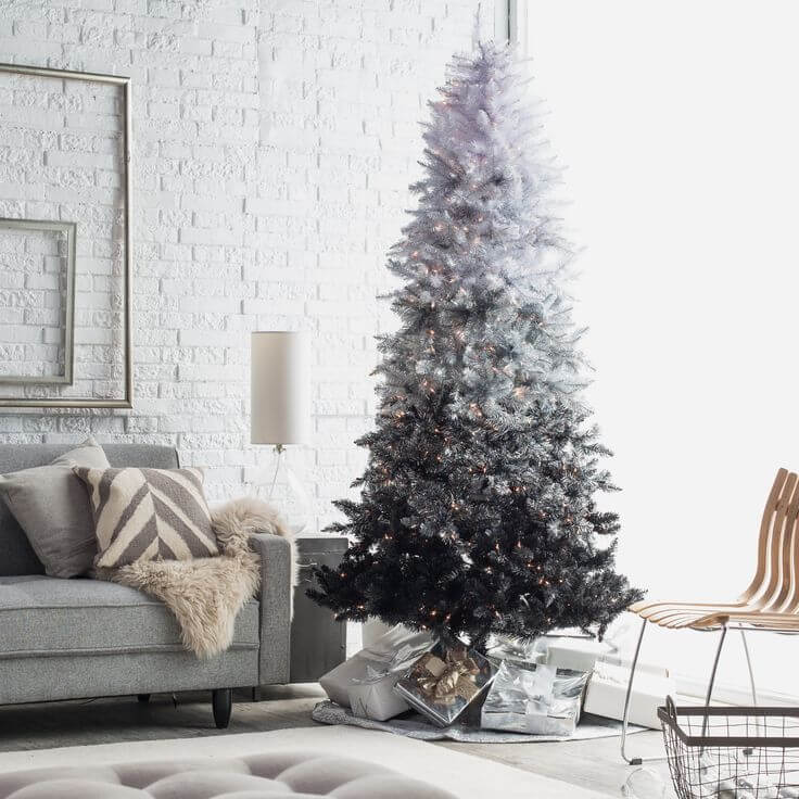 Black Ombre Christmas Decor