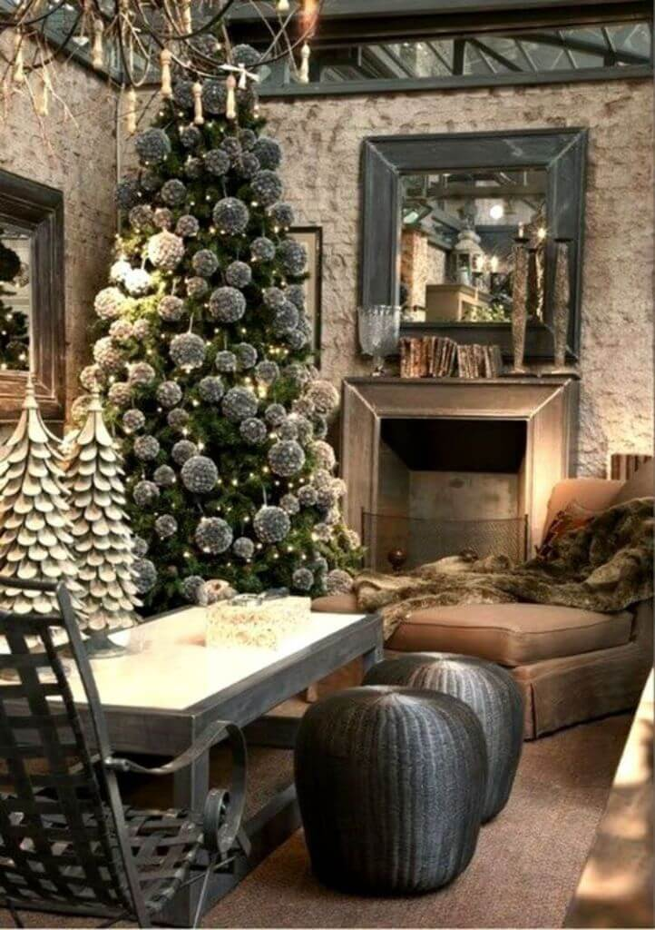Industrial style gray Christmas decoration