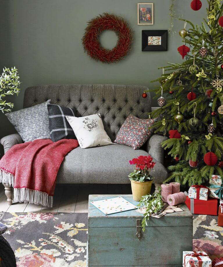 Red and gray Christmas decoration